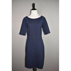 TALBOTS Navy Ponte Stretch Sheath Dress